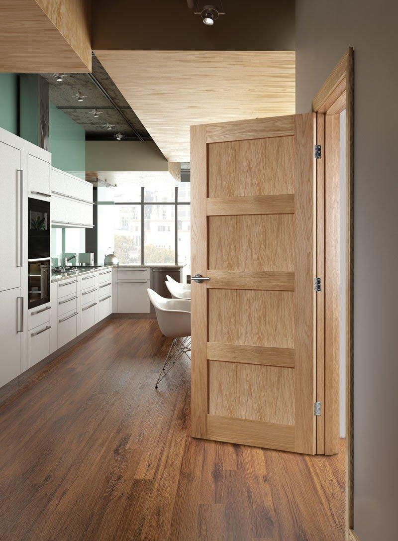 Hp1 Solid Oak Door Fitwell Doors And Floors