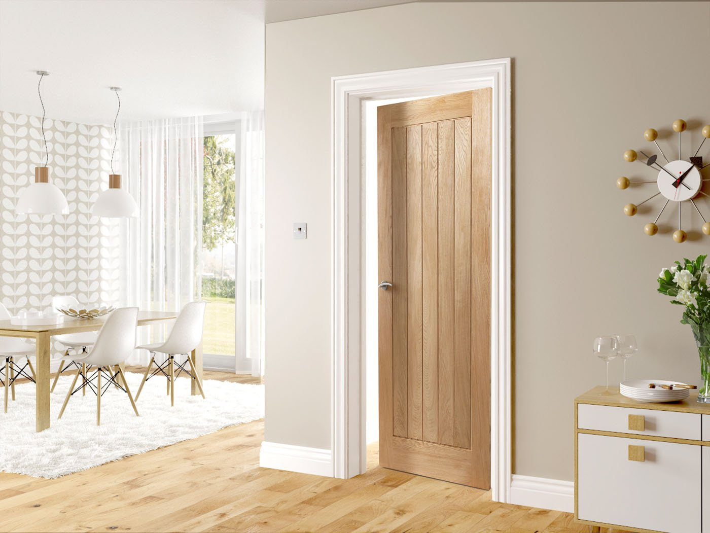 Hp22 Solid Oak Door Fitwell Doors And Floors
