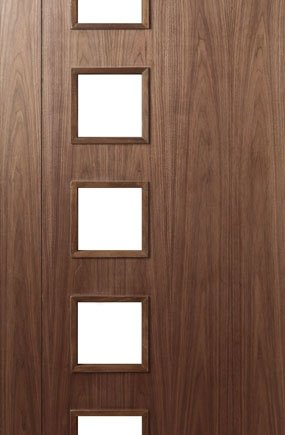 HP19 Walnut and Glass Door