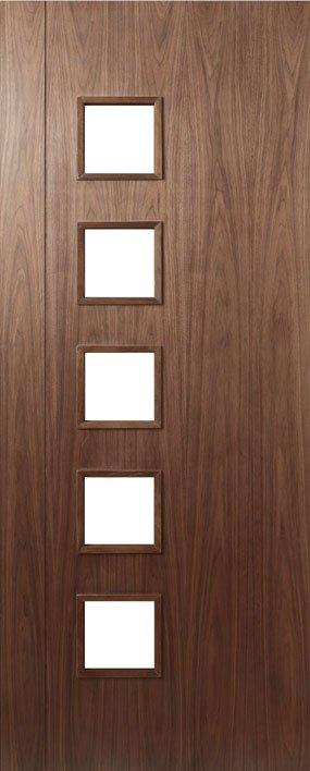 HP19 Walnut and Glass Door
