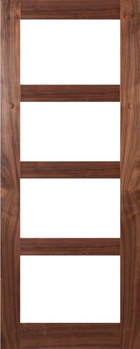 HP1g walnut and glass door