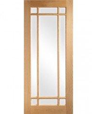 NM5G oak and glass door