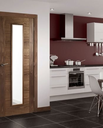 hp16g walnut and glass door